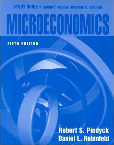 Microeconomics 5th 2001 edition cover