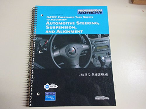 NATEF Correlated Job Sheets for Automotive Chassis Systems Principles, Diagnosis, and Service 4th 2008 edition cover