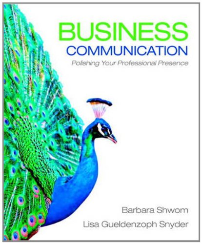 Business Communication Polishing Your Professional Presence  2012 edition cover