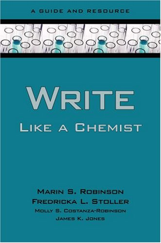 Write Like a Chemist A Guide and Resource  2008 edition cover