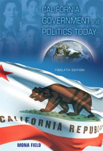 California Government and Politics Today  12th 2009 edition cover