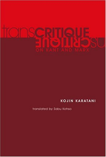 Transcritique On Kant and Marx  2005 edition cover