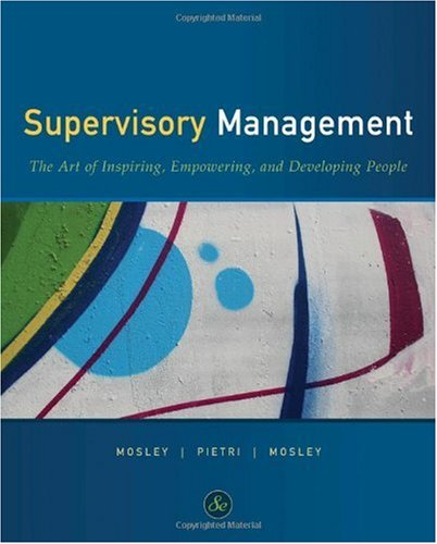 Supervisory Management  8th 2011 edition cover