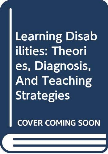 Learning Disabilities Study Guide Used with ... Lerner-Learning Disabilities: Theories, Diagnosis, and Teaching Strategies 9th 2003 (Student Manual, Study Guide, etc.) 9780618224074 Front Cover