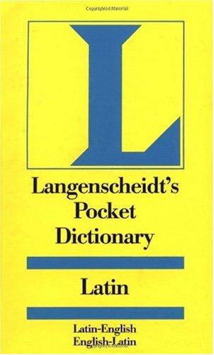 Pocket Dictionary Latin   1966 edition cover