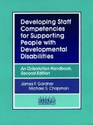 Developing Staff Competencies for Supporting People with Developmental Disabilities An Orientation Handbook 2nd 1993 (Reprint) edition cover