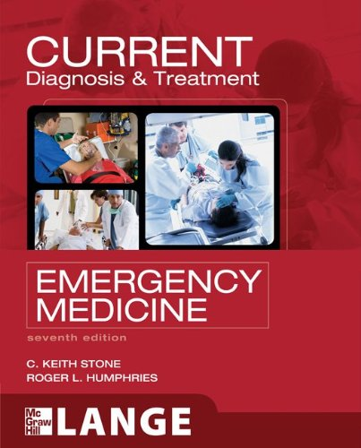 Current Diagnosis and Treatment Emergency Medicine 7th 2011 edition cover