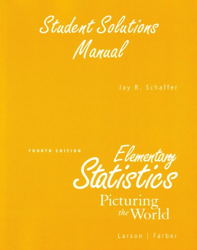 Elementary Statistics Picturing the World 4th 2009 9780136013075 Front Cover