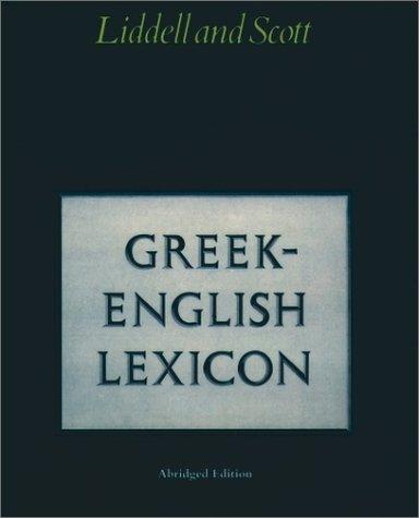 Greek-English Lexicon  Abridged edition cover