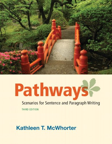 Pathways Scenarios for Sentence and Paragraph Writing 3rd 2012 (Revised) edition cover