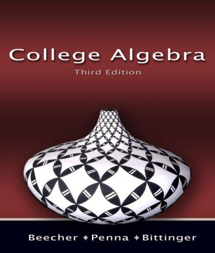 College Algebra  3rd 2008 edition cover