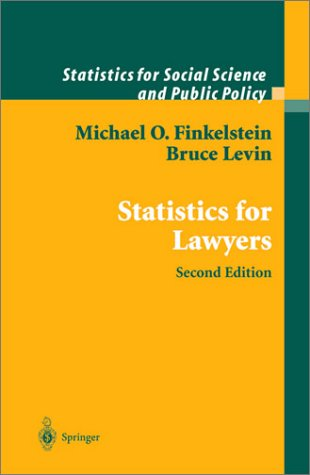 Statistics for Lawyers  2nd 2001 (Revised) edition cover