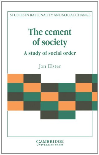 Cement of Society A Survey of Social Order  1989 9780521376075 Front Cover