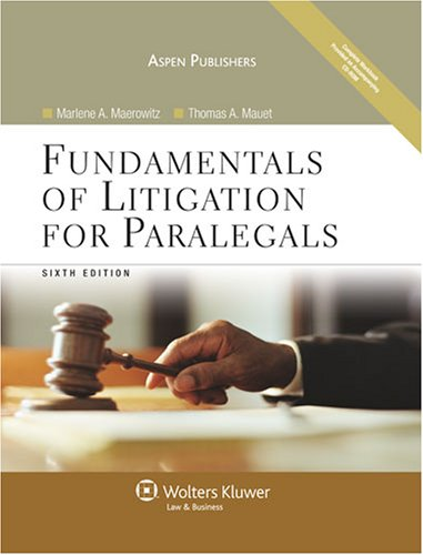 Fundamentals of Litigation for Paralegals  6th 2008 (Revised) edition cover