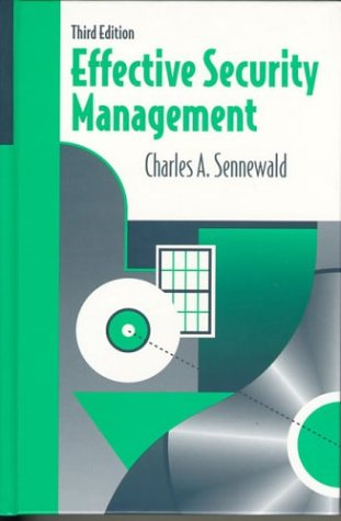 Effective Security Management  3rd 1998 9780750699075 Front Cover