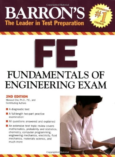 Barron's FE Fundamentals of Engineering Exam 2nd 2007 edition cover