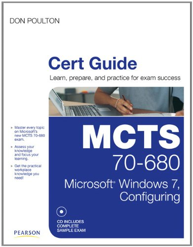 MCTS 70-680 Cert Guide Microsoft Windows 7, Configuring  2011 edition cover