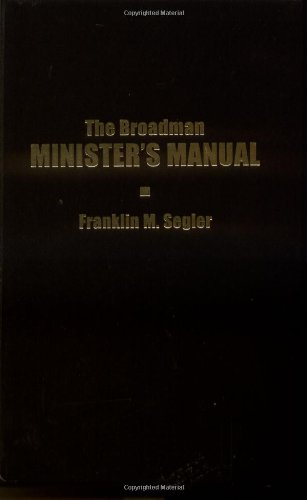 Broadman Minister's Manual   1968 edition cover