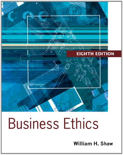 Business Ethics A Textbook with Cases 8th 2014 edition cover