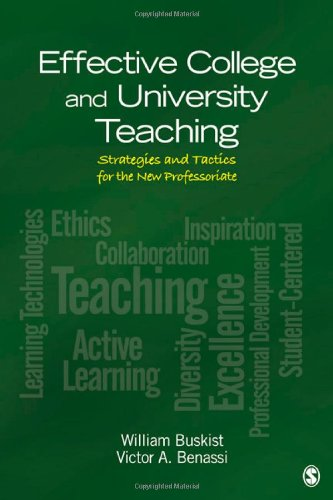 Effective College and University Teaching Strategies and Tactics for the New Professoriate  2012 edition cover