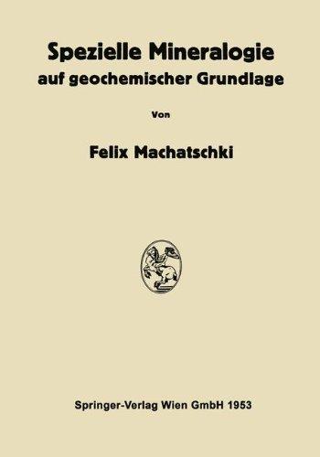 Spezielle Mineralogie Auf Geochemischer Grundlage   1953 9783709180075 Front Cover