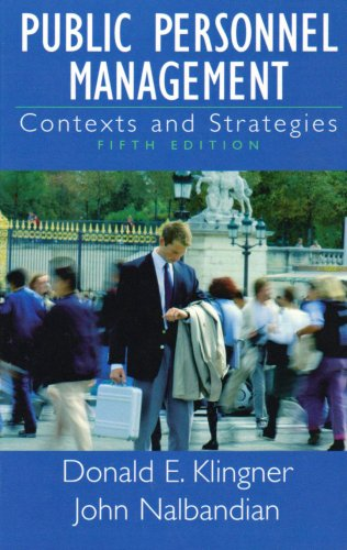 Public Personnel Management Contexts and Strategies 5th 2003 (Revised) 9780130993076 Front Cover