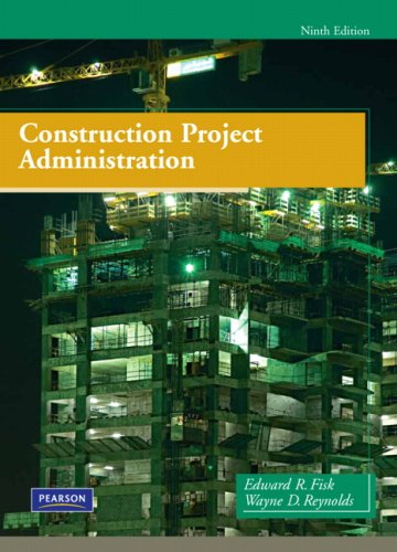 Construction Project Administration  9th 2010 edition cover