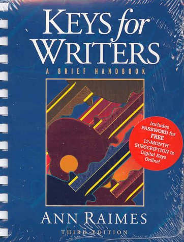 Keys for Writers : A Brief Handbook 3rd 2002 9780618192076 Front Cover