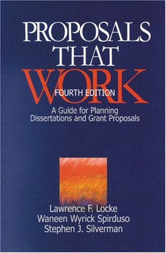 Proposals That Work A Guide for Planning Dissertations and Grant Proposals 4th 1999 (Revised) edition cover