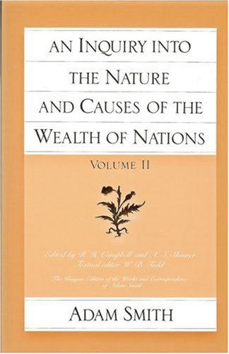 Inquiry into the Nature and Causes of the Wealth of Nations   1981 (Reprint) edition cover
