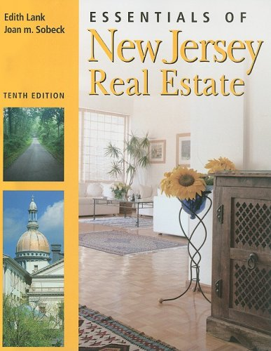 Essentials of New Jersey Real Estate 10th 9781427766076 Front Cover