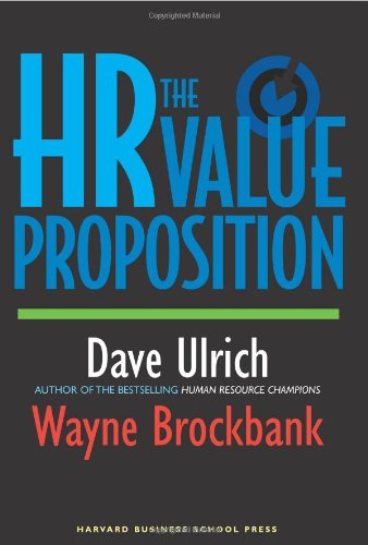 HR Value Proposition   2005 edition cover