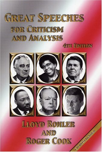 Great Speeches for Criticism and Analysis 4th 2001 (Revised) edition cover