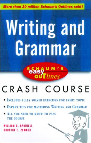 Schaum's Easy Outline of Writing and Grammar   2001 9780071372077 Front Cover