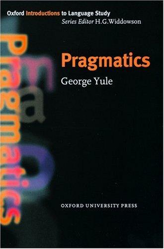Pragmatics   1996 edition cover