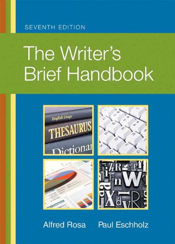 Writer's Brief Handbook  7th 2011 (Revised) edition cover