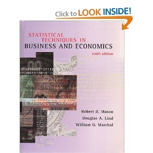 Statistical Techniques in Business and Economics  10th 1999 9780256263077 Front Cover