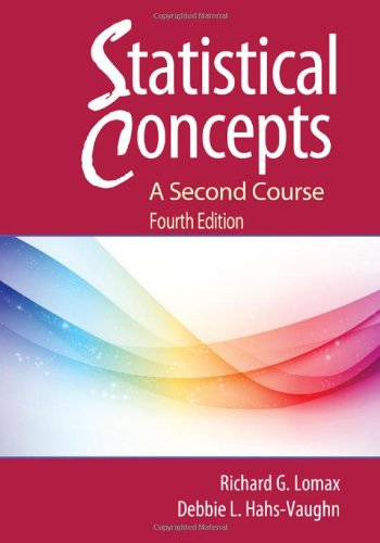 Statistical Concepts A Second Course 4th 2012 (Revised) edition cover