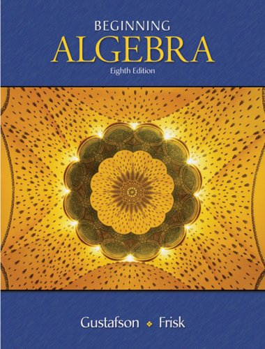 Beginning Algebra  8th 2008 (Revised) 9780495118077 Front Cover