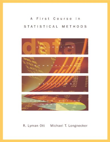 First Course in Statistical Methods   2004 9780534408077 Front Cover
