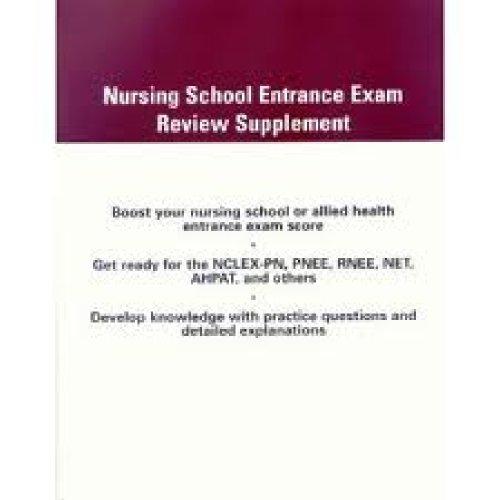 Nursing School Entrance Exam Review   2005 (Supplement) 9780534466077 Front Cover
