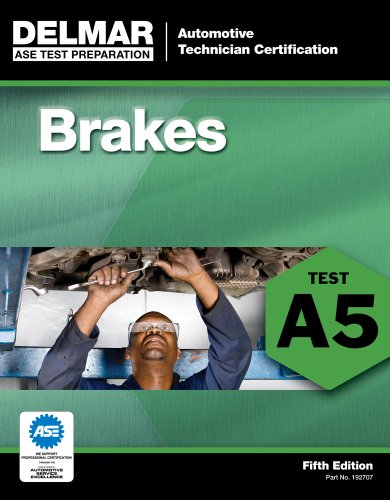 ASE Test Preparation - A5 Brakes  5th 2012 edition cover