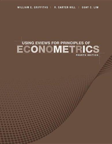 Using eViews for Principles of Econometrics  4th 2012 edition cover