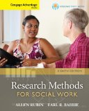 Cengage Advantage Books: Brooks/Cole Empowerment Series: Research Methods for Social Work  8th 2014 edition cover
