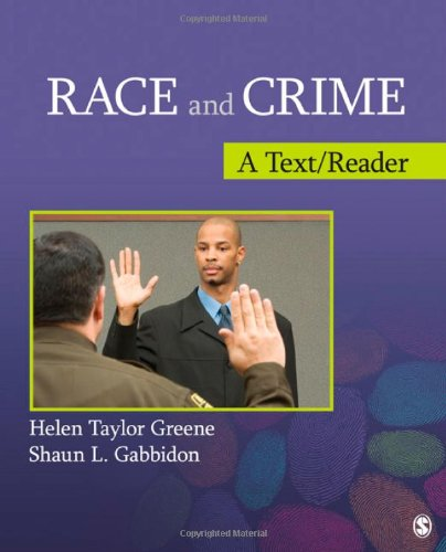Race and Crime A Text/Reader  2012 edition cover