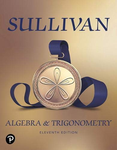 Cover art for Algebra and Trigonometry, 11th Edition