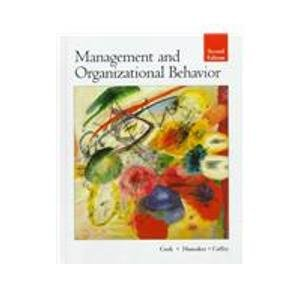 Management and Organizational Behavior 2nd 1997 9780256208078 Front Cover