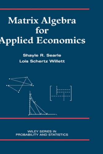 Matrix Algebra for Applied Economics   2001 edition cover