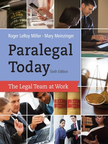 Paralegal Today The Legal Team at Work 6th 2014 edition cover