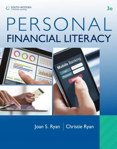 Personal Financial Literacy:   2016 9781305653078 Front Cover